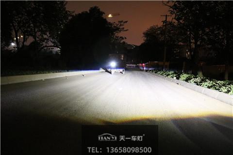 成都天一车灯保力狮激光大灯单支透镜 近光效果实拍
